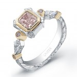 pink diamond engagement ring LVS291