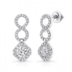18K White Gold Diamond Earrings LVE311