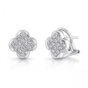 18K White Gold Diamond Earrings LVEM02