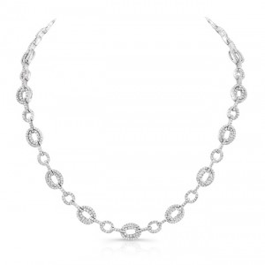 18K White Gold Diamond Necklace LVND04
